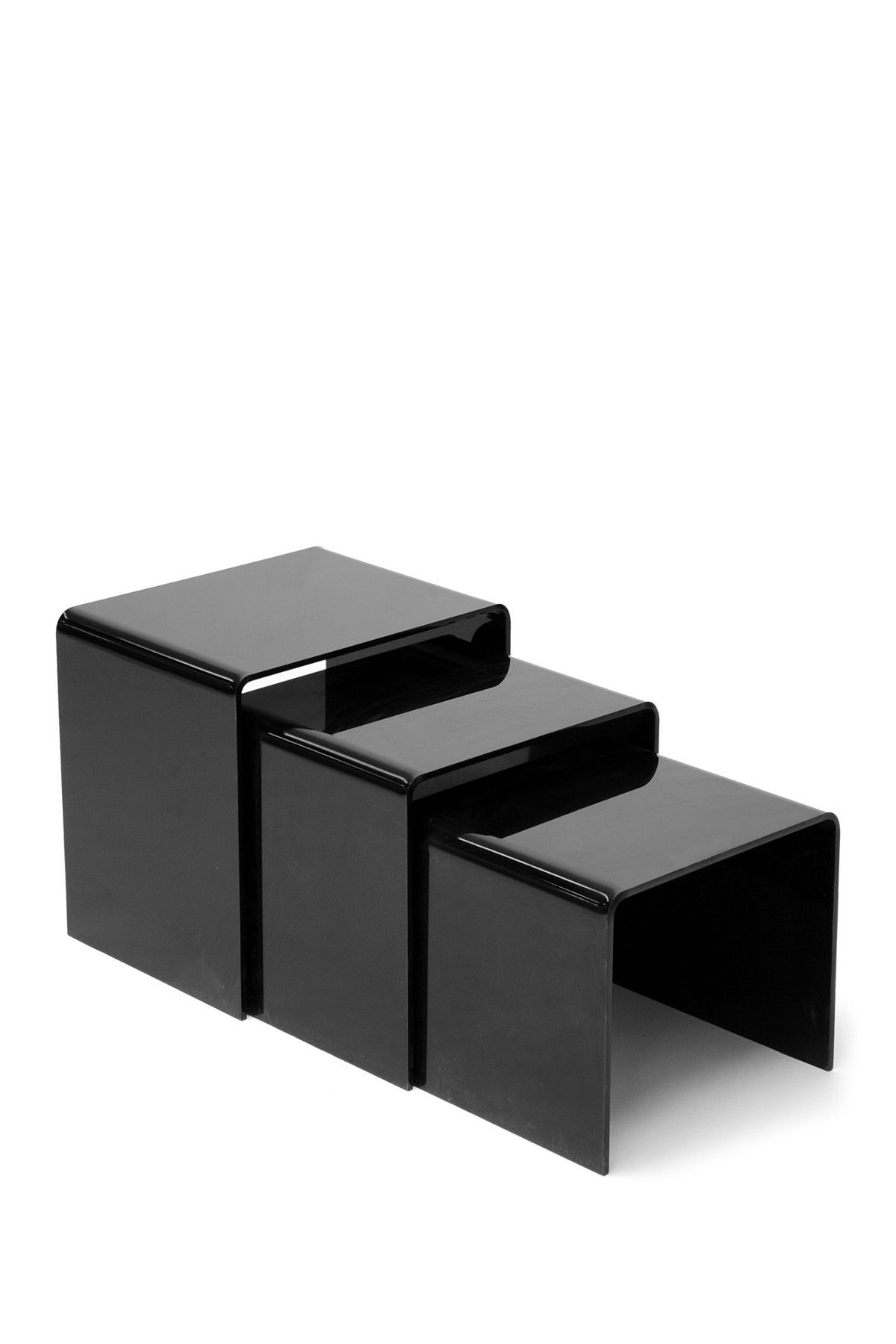Mercutio black acrylic nesting table set set of 3 interiors wholesale interiors mercutio black acrylic nesting table set set of 3 at nordstrom rack free shipping on orders over 100 watchthetrailerfo