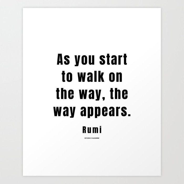 26 | Rumi Quotes | 210106| Poet Poem Sufi Literature Spiritual Mystic Wall Art Decor Art Print by Wordz