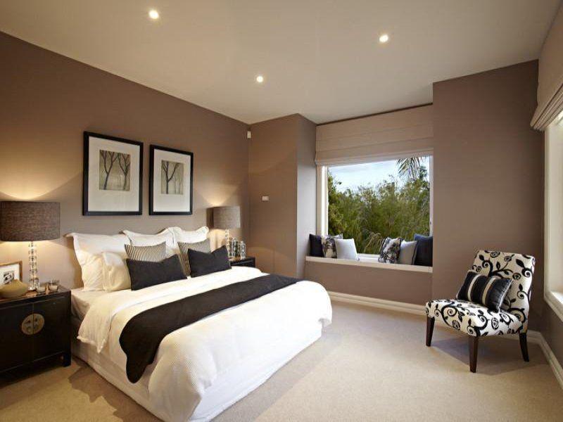 Modern bedroom design idea with floorboards \u0026 window seat using black colours - Bedroom photo 297823 & Modern bedroom design idea with floorboards \u0026 window seat using ...