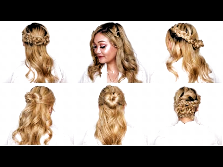Easy Valentine S Day Hairstyles Youtube In 2020 Indian Wedding Hairstyles Indian Wedding Hair Styles