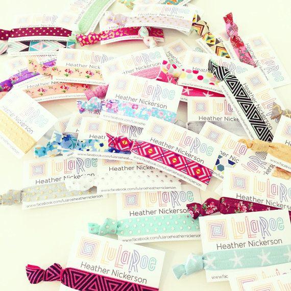 CUSTOM LULAROE Hair Tie Business Cards    Custom by LoveMiaKids ... b808e9f2f7c