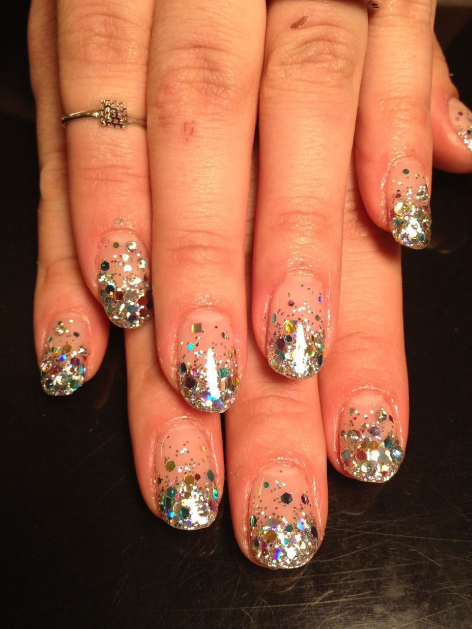 Disco Ball. These look like birthday nails to me