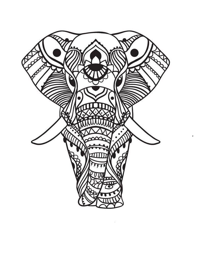 Elefante Hindu Buscar Con Google Paginas Para Colorear De Animales Mandalas Para Colorear Mandalas