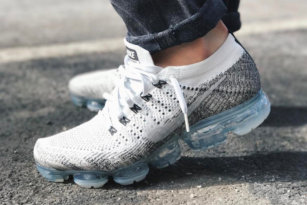 ... gold shoe; nike air vapormax oreo release date. the nike air vapormax  oreo features white flyknit uppers