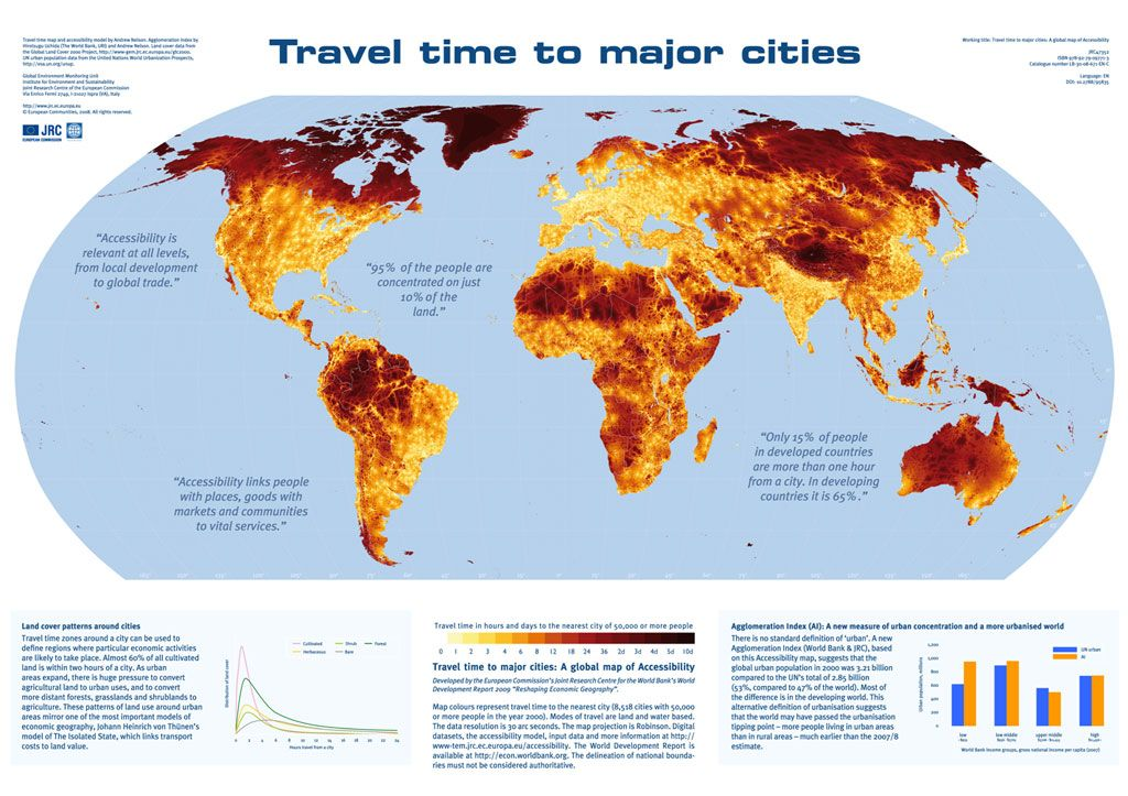 Travel time to major cities global trade pinterest eu science hub european commission global worldglobal mapthe gumiabroncs Choice Image