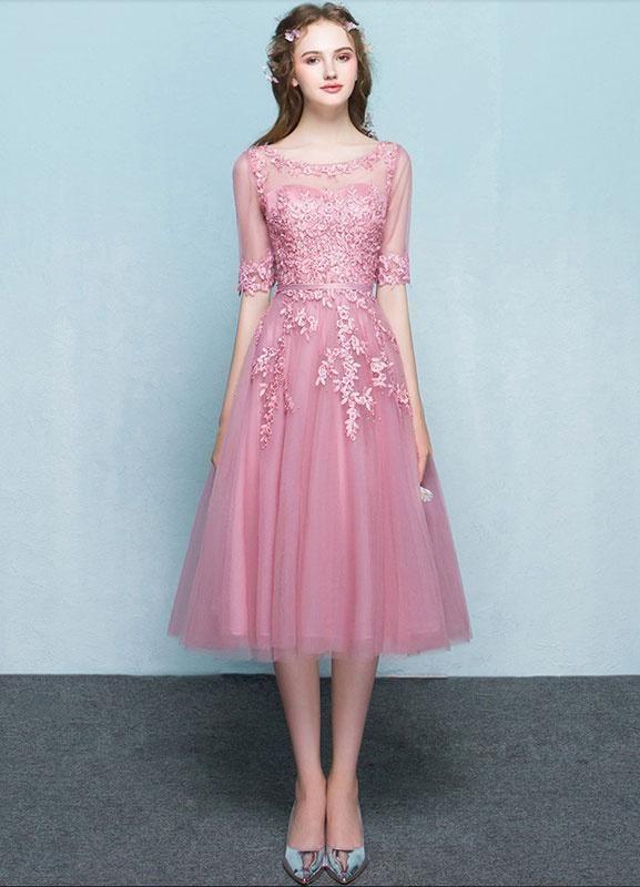 Milanoo.com - #milanoo.com Pink Homecoming Dress Tulle Prom Dress ...