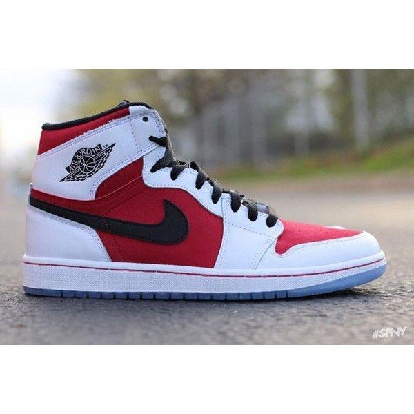 1c1375e90929 Air Jordan 1 Retro High OG  Carmine  ❤ liked on Polyvore featuring shoes