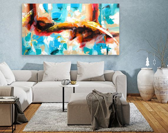 Extra large wall art panoramic original paintings abstract canvas artlarge painting modern paintingscontemporary la also rh pinterest