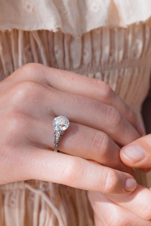 2.81 Carat Edwardian Tiffany & Co. Engagement Ring | Vintage Tiffany ...