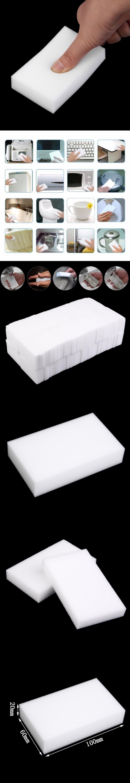 100Pcs White Magic Sponge Cleaner Eraser Multi-functional Cleaner ...
