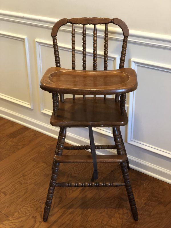 Vintage Wooden High Chair For Sale In Lithonia Ga In 2019