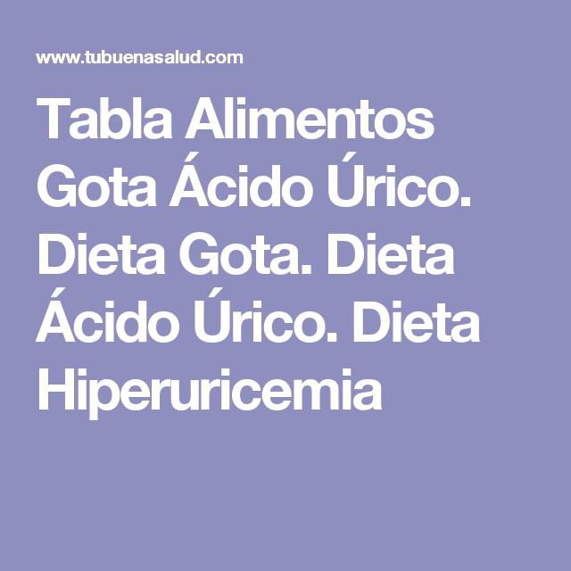 Tabla de alimentos para colesterol y acido urico