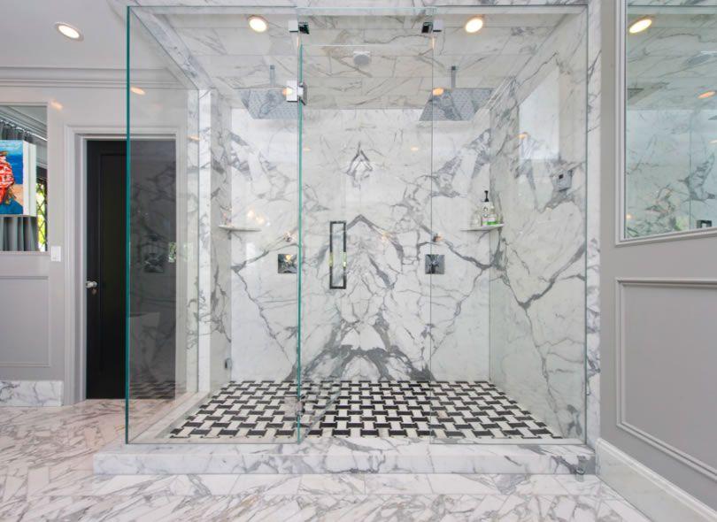 Shower Floor Marble Shower Walls Cultured Marble Shower Walls Jeff Lewis Design