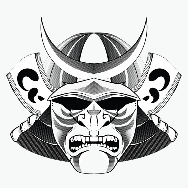 Vector Kabuto by Addison Smyth | Japan style | Pinterest