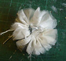 Blumen Aus Gardinenstoff 2 Material Gardienenstoff Vorzugsweise