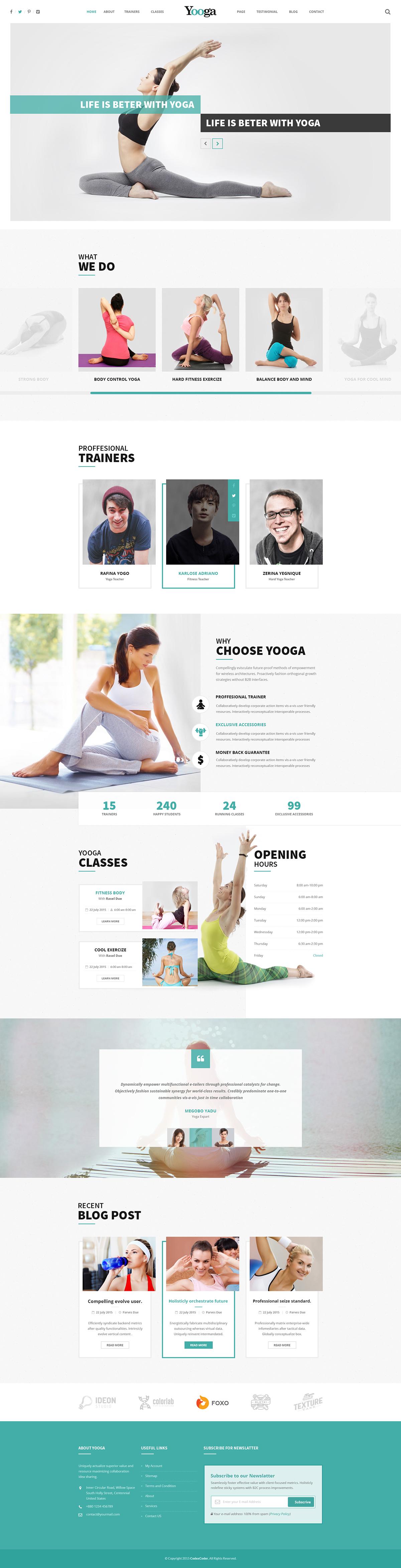 yooga psd template for yoga organizations on behance yoga