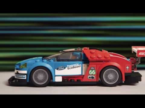 Watch as the new LEGO Speed Champions Ford GT races the Ford GT40 in ...