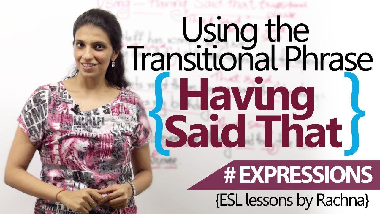 Advanced english lesson using having said that