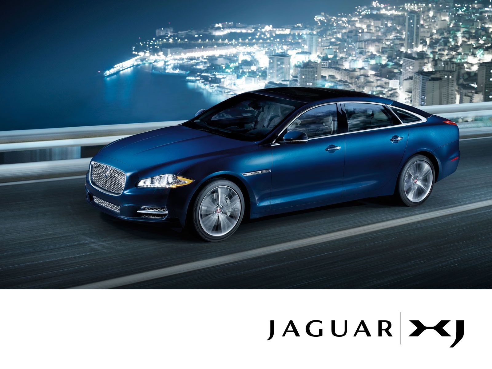 Jaguar XJ blue