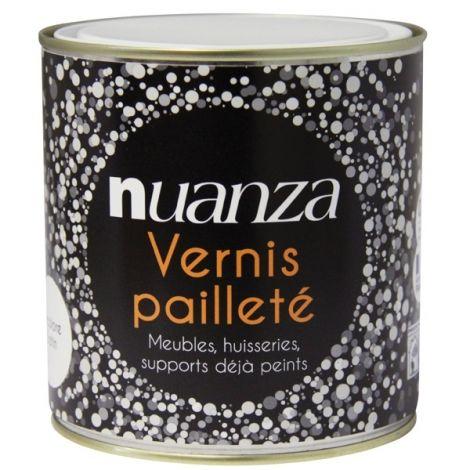 Vernis pailleté incolore 05l Nuanza - Lille et Caen Pinterest - vernir un meuble peint