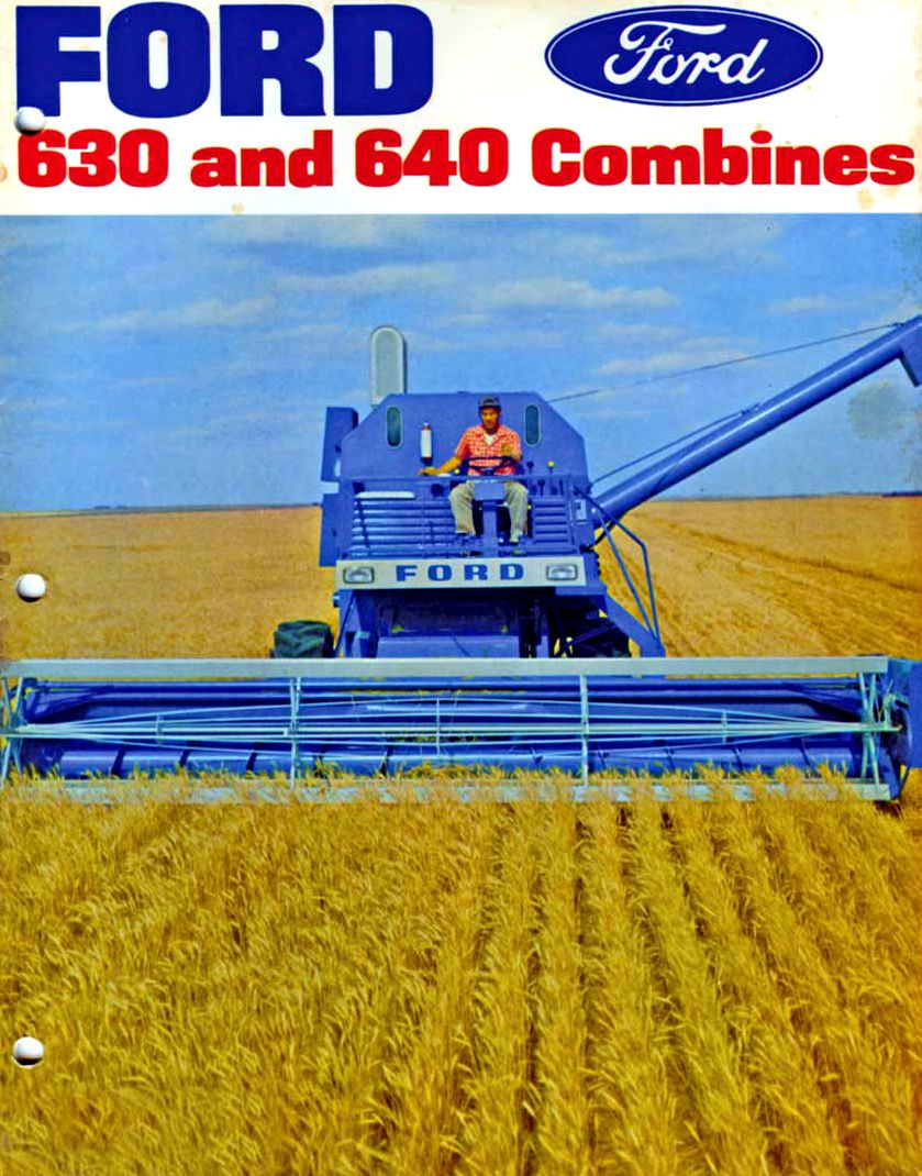 Ford 630 640 combines ford tractors pinterest ford tractor and ford tractors - Moissonneuse cars ...