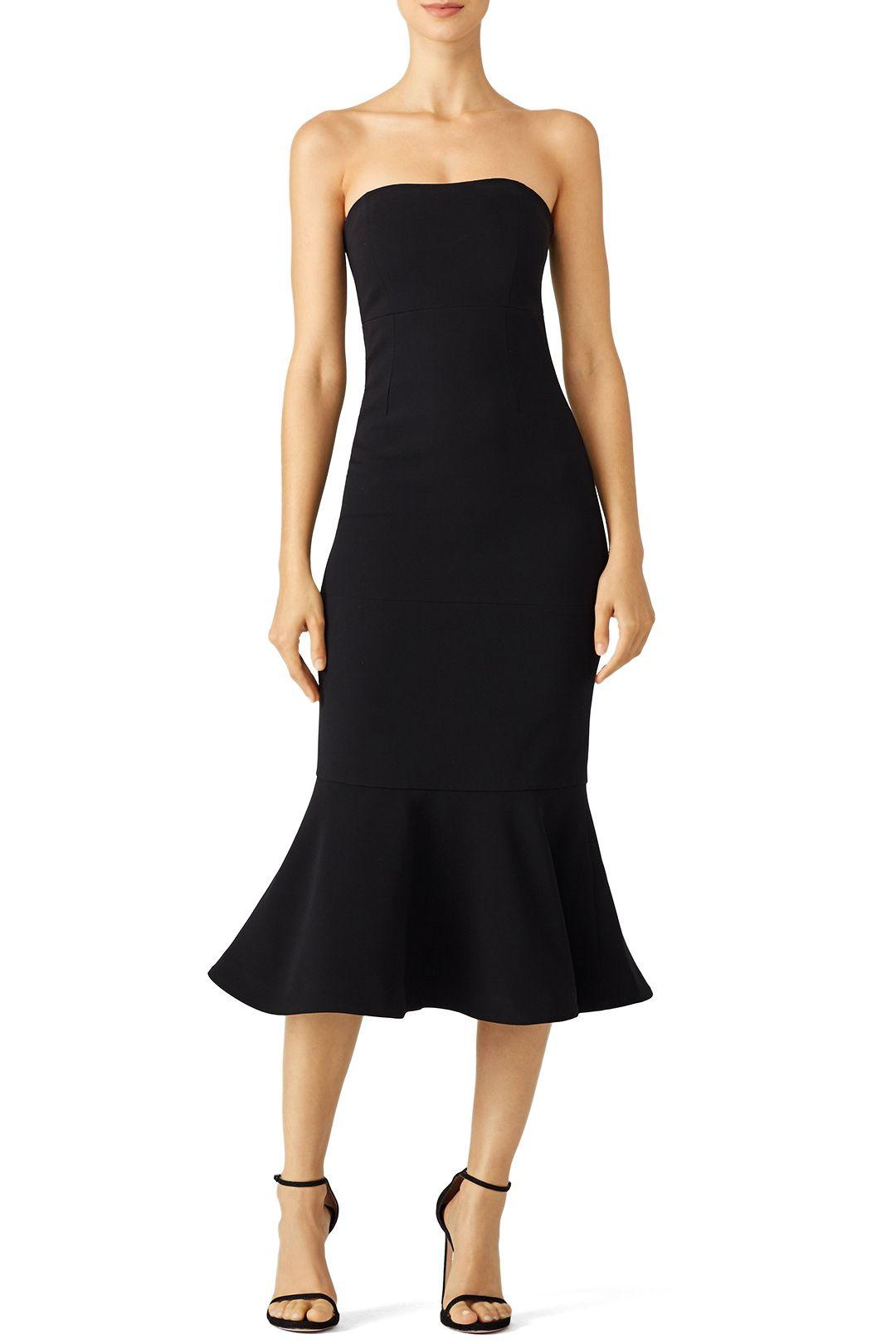 Rent wedding dresses  Rent Black Luna Dress by Cinq à Sept for    only at Rent the
