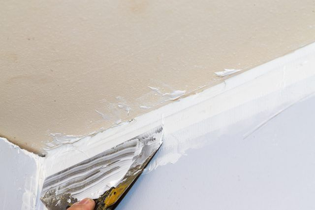 Placing Drywall Often Means Dealing With Walls And Ceilings That Aren T Exactly Plumb In All Areas When Th Drywall Repair Ceiling Repair Ceilings Ceiling Trim