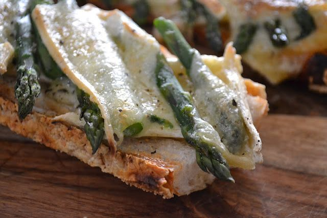 Brie, Asparagus,  and Baguette