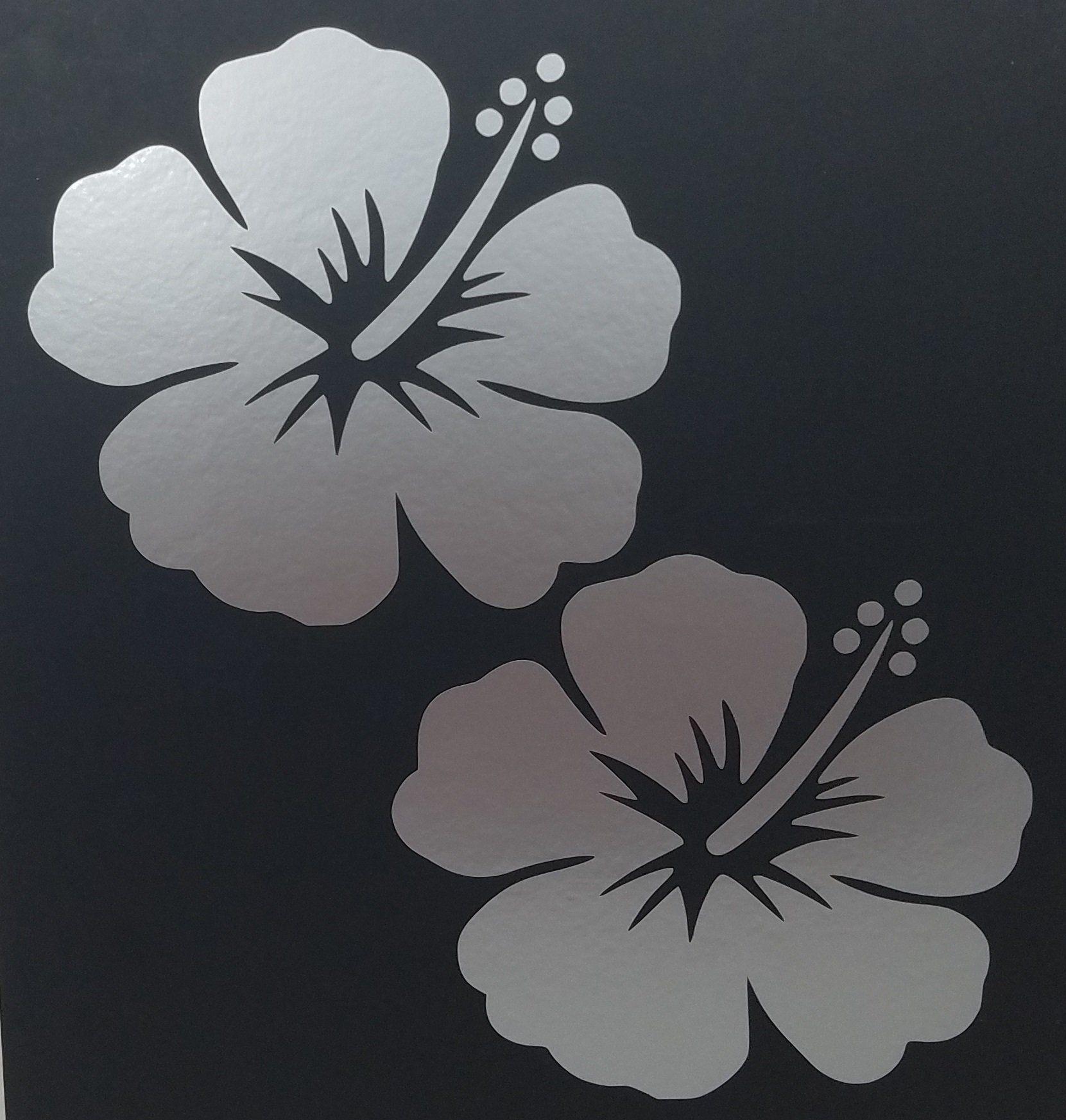 Betty Boop Aloha Girl Hawaiian Hibiscus Flower Vinyl Decal Sticker