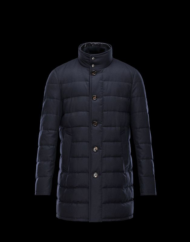 Moncler Vallier Quilted Insulates Down Wool Top Coat Outlet Sale