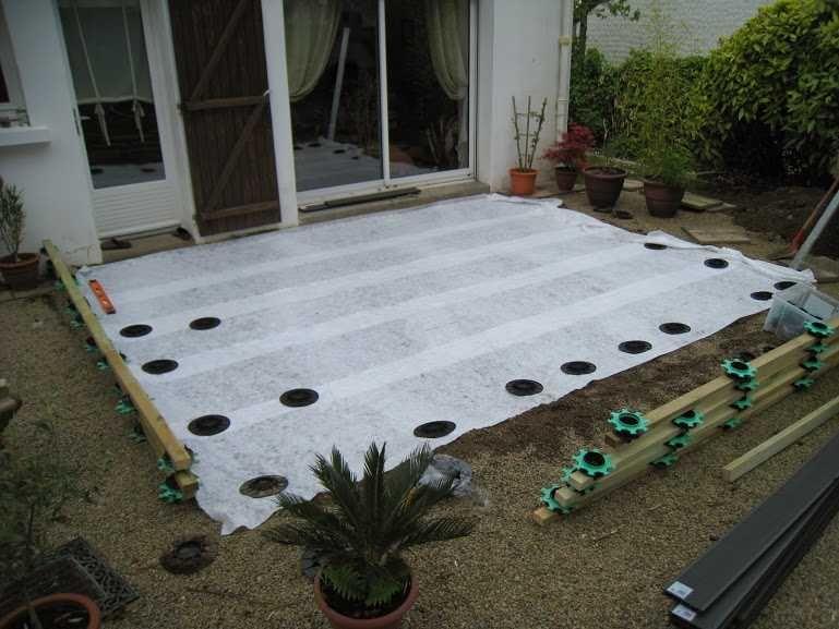 Comment Poser Une Terrasse Composite Sur Lambourdes Et Plots Terrasse Composite Terrasse Bois Composite Et Terrasse Bois