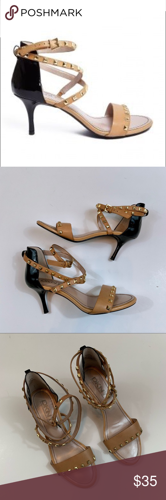 Dkny Elaine Studded Sandals In 2020 Studded Sandals Ankle Wrap Sandals Studded