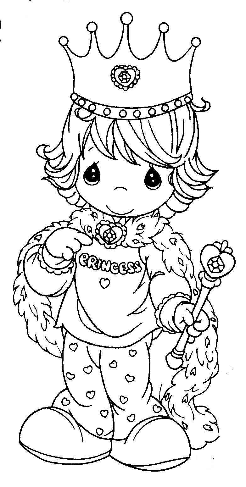 Princess Coloring Pages Coloring Precious Moments