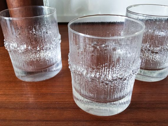 Rare set Wirkkala Iittala Glasses Tumblers by CaribeCasualShop