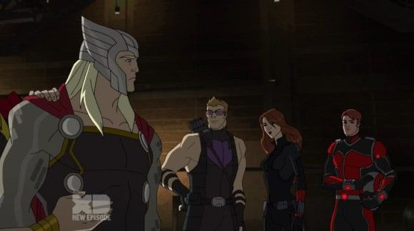Yah!! My Avengers: Thor, Clint, Tasha and Scotty!! Love this episode- Ant-Man Makes It Big. Love Scotty, love them all!!