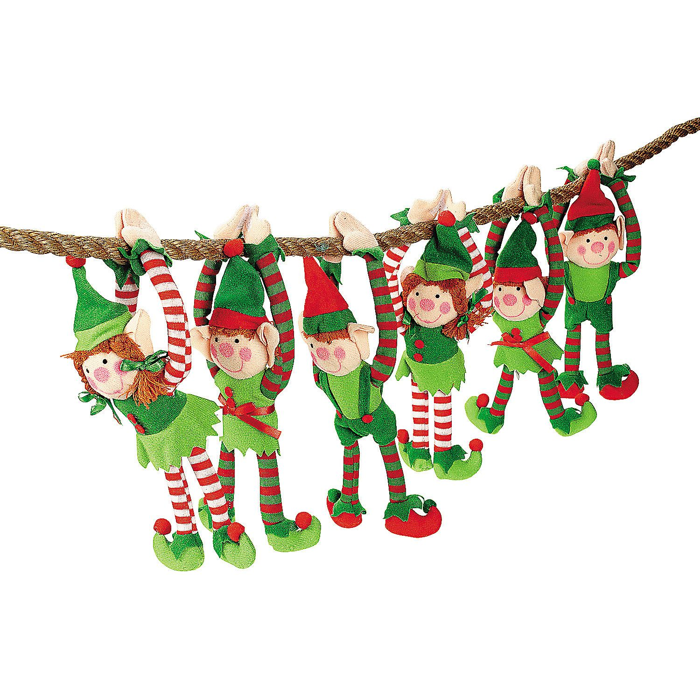 plush long arm elves elves plush and celebrating christmas
