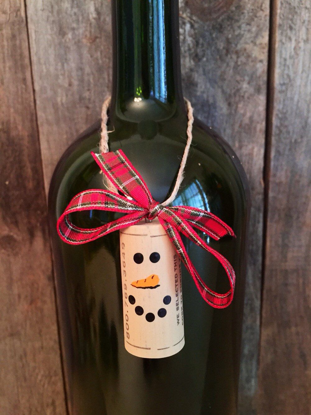 Set Of 6 Adorable Wine Cork Snowman Ornaments These Recycled Wine Cork Ornaments Have So Many Uses Here Are Wine Cork Ornaments Wine Cork Crafts Cork Crafts
