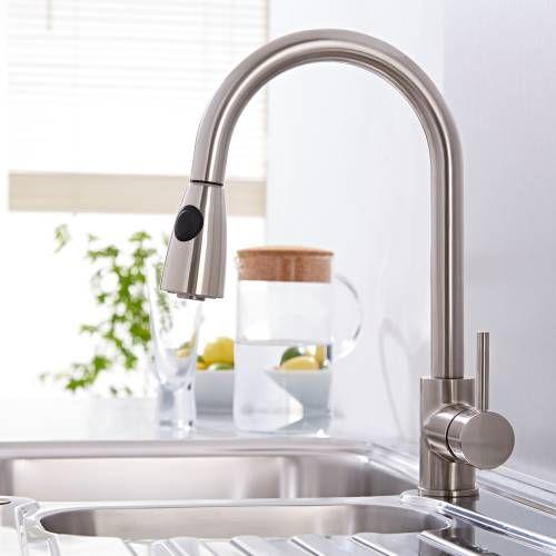 Küchenarmaturen mit schlauchbrause  Hudson Reed Küchenarmatur mit Schlauchbrause | Küchenarmaturen ...
