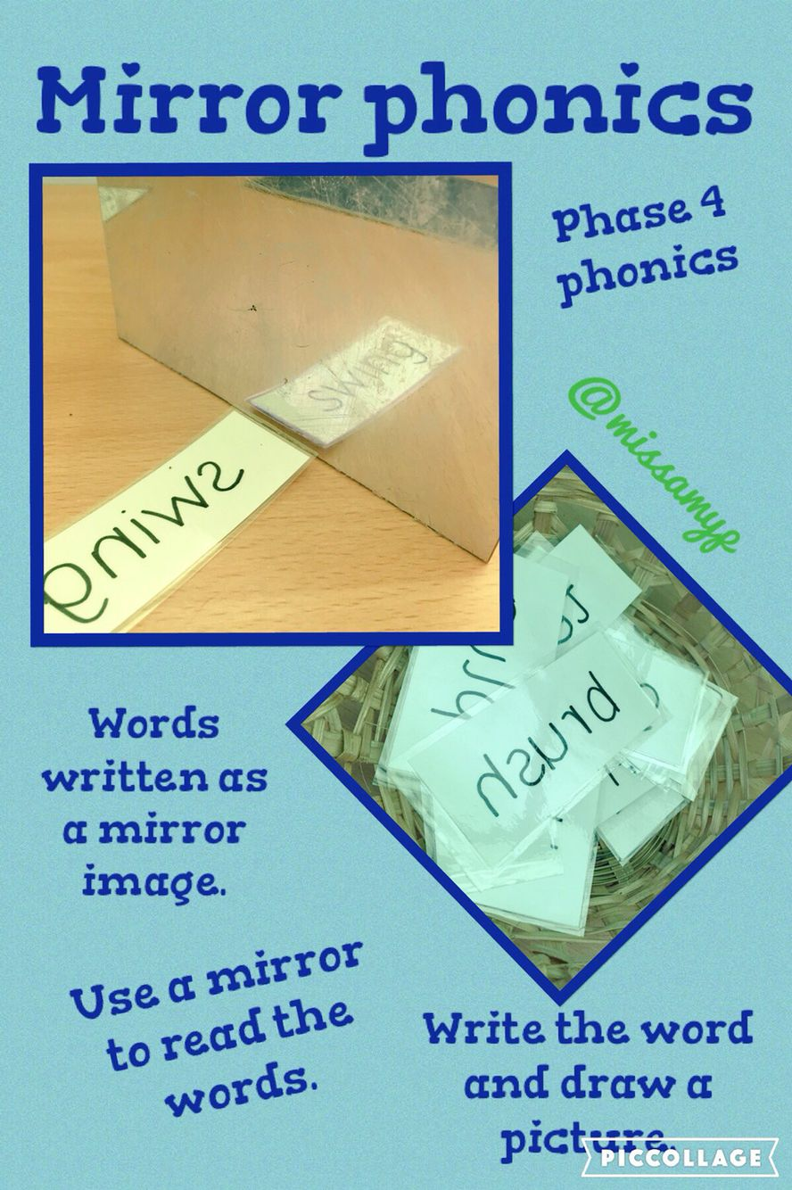 Mirror Phonics Phase 4 Words But Could Be Any Or Hfw Write In Sentences Not Draw A Picture Etc Missamyp