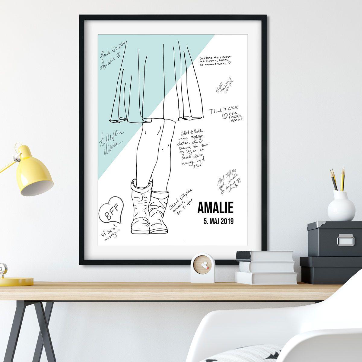 Gaestebogsplakat Cool Girl Cool Boots 50x70cm I 2020 Teenagevaerelser Stil Takkekort
