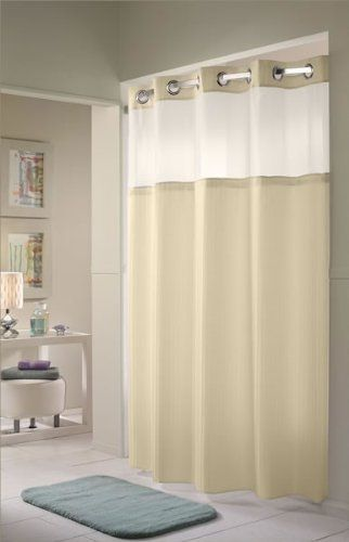 Amazon Hookless Shower Curtain With Mesh Window