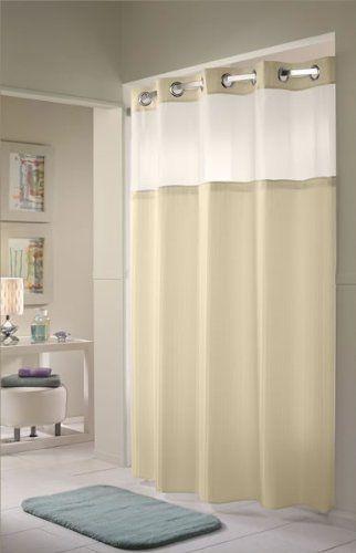 Amazon.com: hookless shower curtain with mesh window | Wish List ...