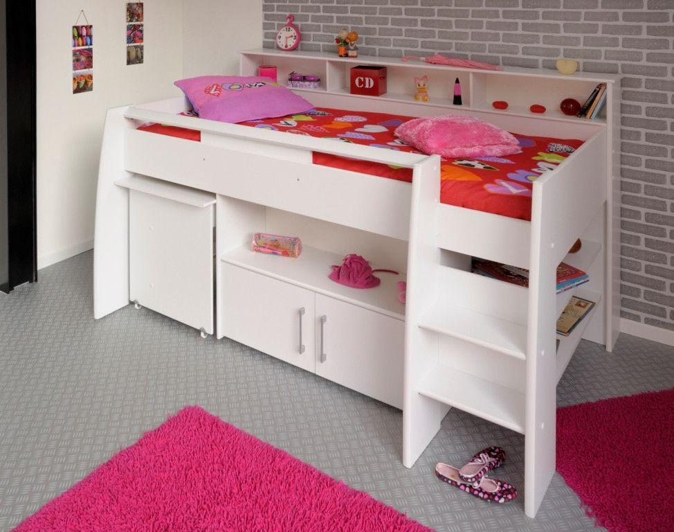 halfhoogslaper met bureau swan | diy bedroom matthy | pinterest