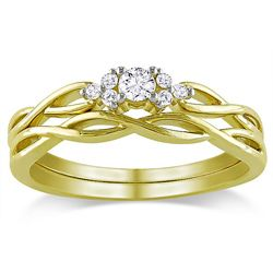 Miadora 10k Yellow Gold 1/6ct TDW Diamond Bridal Ring Set (G-H, I2-I3) (this is the ring I want to replace my ring that we lost)