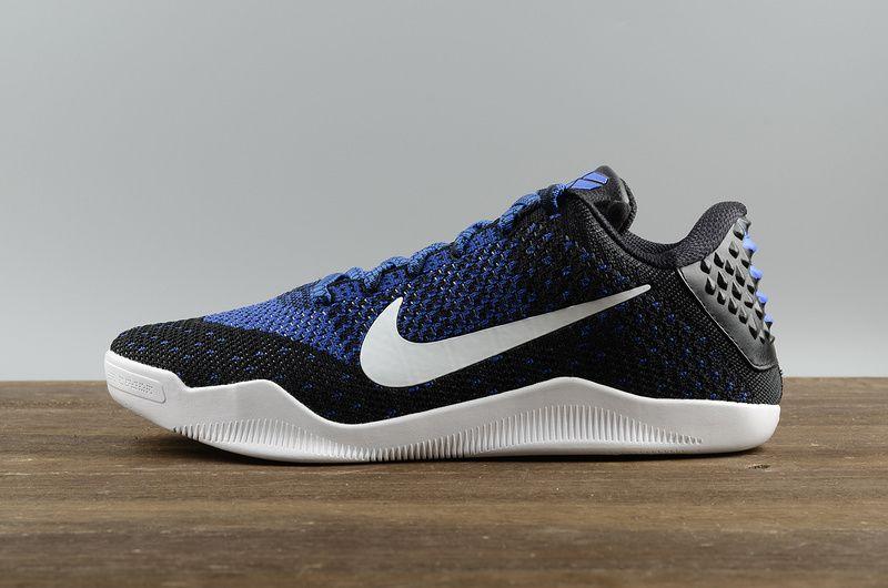 promo code a00c6 16da1 Cheap Nike Kobe XI 11 Elite Low Black White-Racer Blue Mens Basketball Shoes  822675