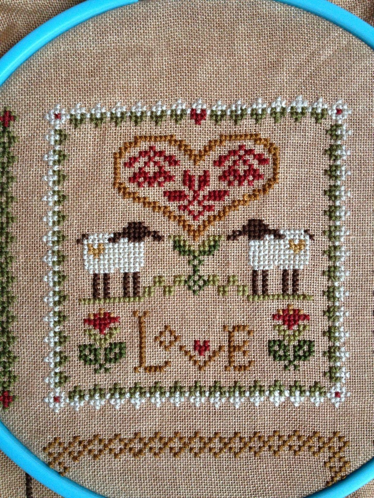 Little Sheep Virtues Cross Stitch - Love