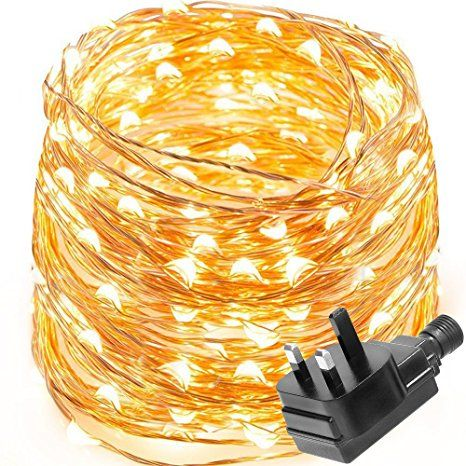 Light Ropes And Strings Entrancing Le Waterproof 10M 100 Led Copper Wire Lights Power Adapter Included