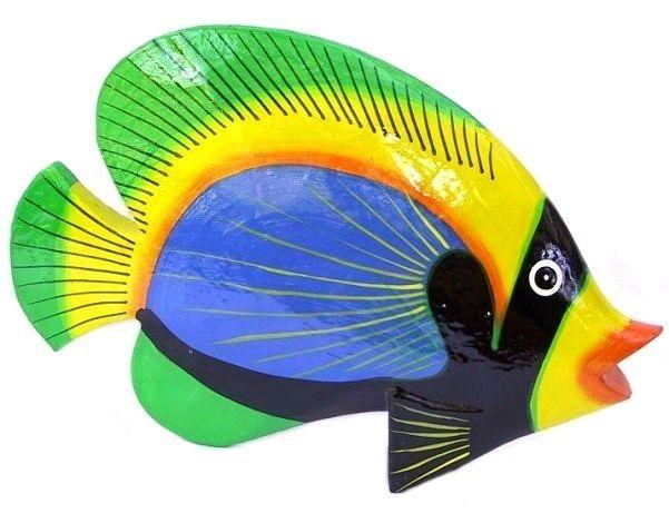 Deko Fisch Holzfisch Dekofisch Kunstfisch Holz Fische