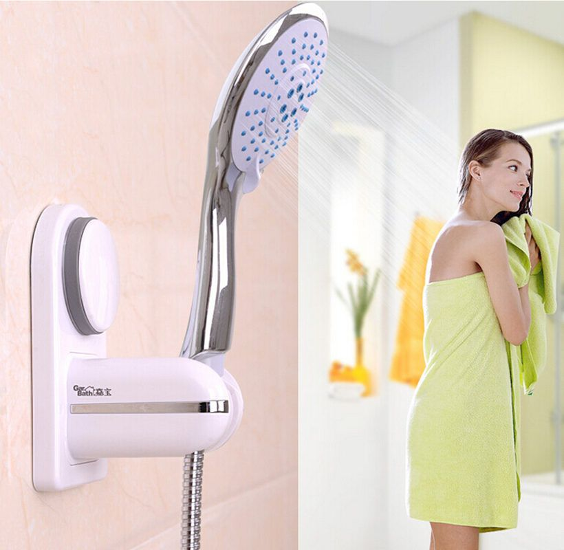 Bathroom Shower Head Holder with Suction cup Adjustable Faucet