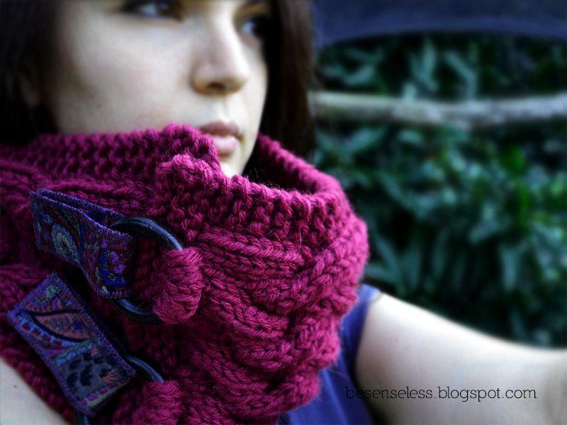 Neck warmer / alpaca chunky yarn /cable knitting patterns | knit ...
